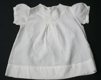 vintage baby dress white embroidered cotton