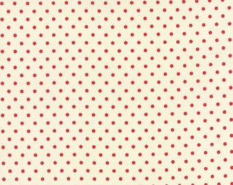 Bread n Butter by American Jane for Moda ~ 100% Cotton BTY ~ Ivory Red 21697-17