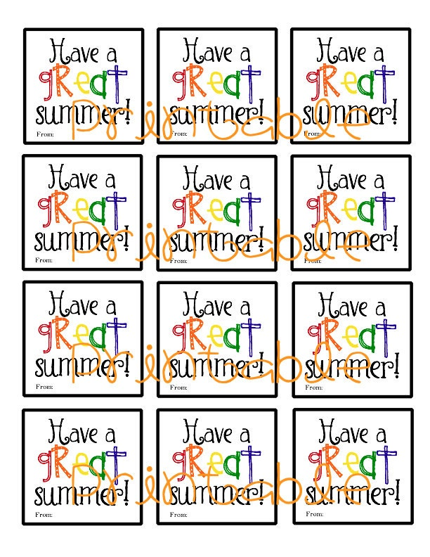 This is a photo of Lucrative Have a Cool Summer Printable