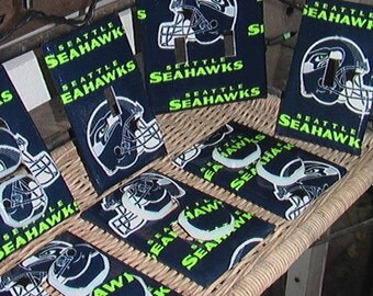 Seattle Seahawks Light Switch Plates Outlet Covers or Knobs