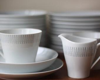 Vintage Upsala Ekeby karlskrona Sweden Dinnerware from 60's, Scandinavian Mid Century Modern, Danish Modern