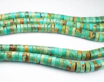 6mm Genuine Turquoise Heishi Beads Blue Green Turquoise Beads