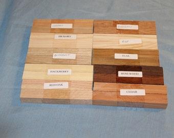 20 Pen Blanks for Sale, 10 Varieties, Wood Blanks for Sale, Pen Turning Blanks, Wood Pen Blanks, Mix D186