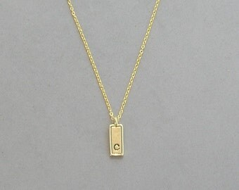 Gold Plated Initial C Necklace