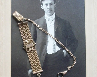 Victorian Mesh, Fob & Chain for Pocket Watch