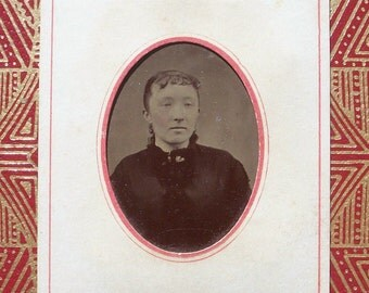 Tintype - Girl in Mourning