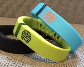 Fitbit Flex Monogram Decals Fitbit Decals Monogrammed Fitbit Flex Decals Fitbit Bracelet monogram decals Personalized Fitbit Flex decal
