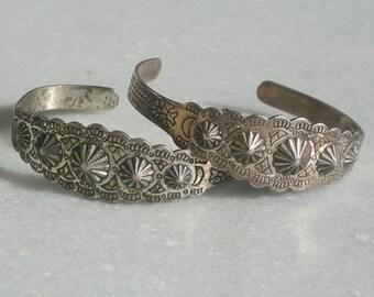 Vintage Southwestern Native American Style Bracelets 60s 70s