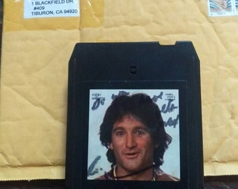 Autographed 8 track tape of Robin Williams stand up comedy act