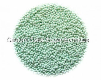 1lb.Mint Green Nonpareils Edible Sprinkles Cakepops Cupcake Candy Confetti Decorations