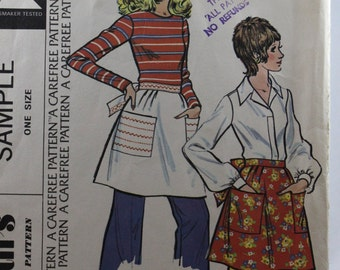 McCall's Sample Pattern, Vintage Apron Pattern, Misses' and Junior Short Apron Pattern, Uncut, Vintage Apron Sewing Pattern, One Size