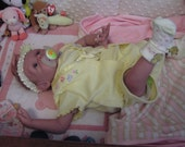 Reborn doll, Girl, Cloth body, Genesis paint , mohair, Edenholm Joey Sculpt the twin sister to Mattie