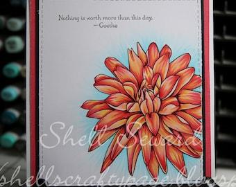Dahlia Flower Digi