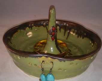 Green Apple  Ring and Jewelry Holder