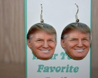 Donald Trump Dangle Earrings Jewelry,2016 Election,President,Make America Great Again,Republican