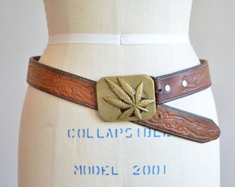 Vintage 1970s BRASS weed belt