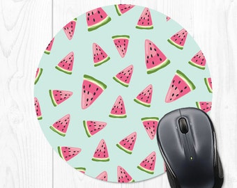 Mouse Pad Watermelon Mousepad Fruit Mouse Pad Office Supplies Office Desk Accessories Desk Decor Cubicle Decor Cute Office Decor