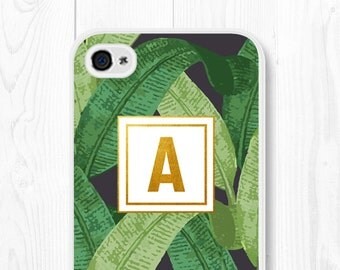 Personalized iPhone 6 Case Samsung Galaxy S5 Case Monogram iPhone 6s Case Mom Banana Leaf iPhone 6 Plus Case Gold iPhone 6s Plus Case