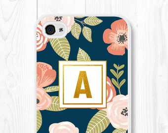 iPhone 6s Plus Case Monogram iPhone 6 Case Floral iPhone 6s Case Samsung Galaxy S7 Case iPhone 5s Case iPhone 5c Mothers Day from Daughter