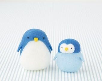 DIY handmade Snow Peas wool felt doll mascot Penguin  --- Japanese kit package H441-448