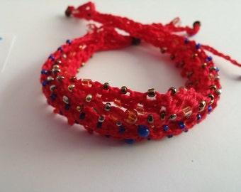 Beaded Crochet Love Knots Bracelet - Group # 18
