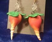Luna Lovegood Dirigible Plum/Radish earrings (set XVI)