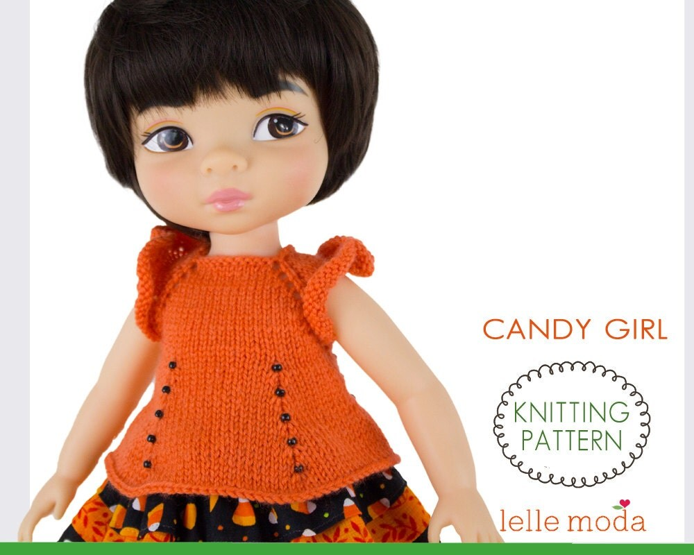 Candy Girl Knitting Pattern For Animators Dolls 16 Inch