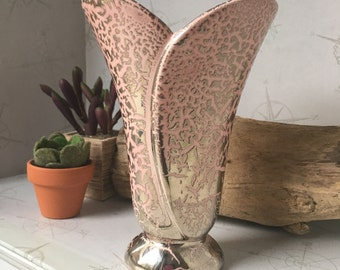 Vintage pink & gold vase