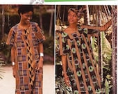 ON SALE Simplicity Dress Pattern 0689 - Misses' One-Piece Long Dress, Tunic, Pants and Headwrap - African Style - Sz Xs/S/M/L/Xl