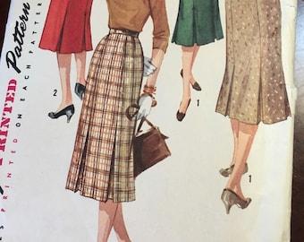 "Simplicity 1731 COMPLETE Vintage Pattern skirt pattern waist 25"" copyright 1956"