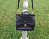 Reserved Please Do Not Purchase  / Coach Black Leather Messenger Bag / RESERVED FOR VALERIE