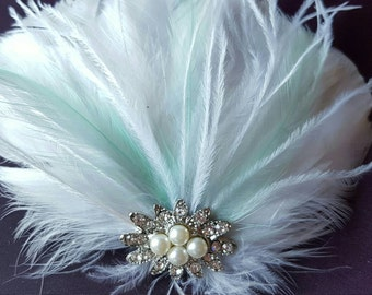 Wedding Accessories, Hair Accessories, Bridal Hair Clip, Feather Hair Clip, Fascinator, Bridal Fascinator, Wedding Hair Clip, Wedding Comb