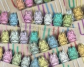 Totoro Planner Clips - Planner Accessories - Set of 5 - Totoro Paper Clips - Bookmark - Cute Planner Gift  - My Neighbor Totoro
