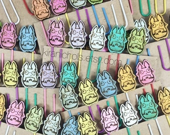 Totoro Bookmark - Totoro Stationary - Set of 5 - Totoro Paper Clips - Bookmark - Cute Planner Gift  - My Neighbor Totoro