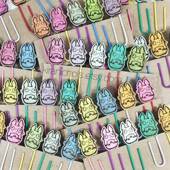 Totoro Bookmark - Totoro Stationary - Set of 5 - Totoro Paper Clips - Bookmark - Cute Planner Gift  - My Neighbor Totoro