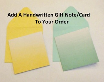 Add A Gift Note: Note Card with a Handwritten Personal Message to Any Order; Personalized Note Add On; Notecard; 2 Color Options, Ombre, 3x3