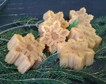 Large Snowflake Tarts - Christmas - Highly Scented - Handmade - Sugar Cookie Scented - Bag of (3) 8.99