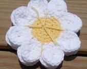 Daisy Drink Coasters, Crochet Cotton Coasters