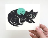 New Baby (Cat) - Screen Printed Card