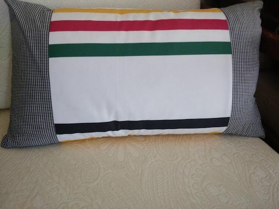 Decorative Pillows Hudson Bay : Hudson Bay Print Cabin Pillow Cover 22 x 12