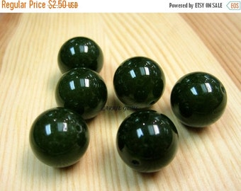 20% OFF ON SALE Green Jade 14mm Round Beads
