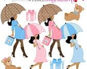 SALE Baby Bump Dark Cute Digital Clipart for Card Design, Scrapbooking, and Web Design, Pregnancy Clipart