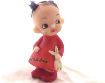Get Well Soon, Vintage 1970 Berries Figurine in Imperfect Condition