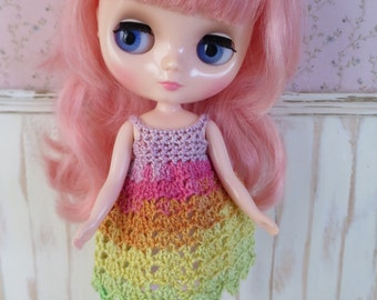 Middie Blythe Rainbow Crochet Dress
