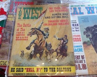 Vintage Western Magazines Cowboys Indians Wild West