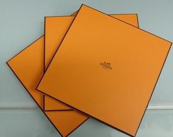 Authentic Hermes orange box for Hermes Scarf
