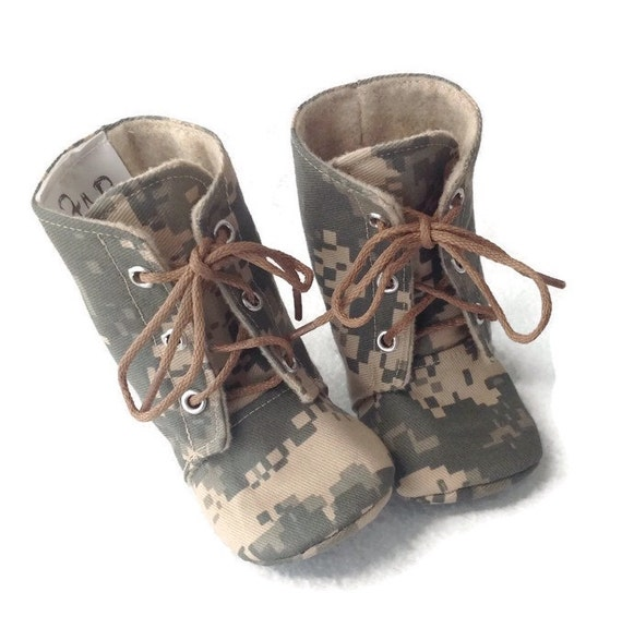 Army Baby Combat Boots ACU Camo Newborn size up to 3T