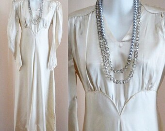 Vintage 1920s Mother of Pearl Heavy Satin Wedding Dress, Satin Wedding Dress, 1920s Wedding Dress, Wedding Dress, 1920s Dress