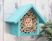 Single Tier Bee Hotel, Mediterranean Glaze, can be personalised