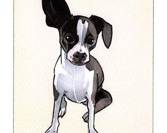 9x12 Custom Watercolor Pet Animal Portrait